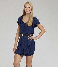B. Darlin Flutter-Sleeve Dress   Dillards.com