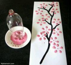 Cherry blossom art