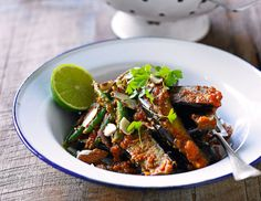 Eggplant And Green Bean Curry (Recipe)