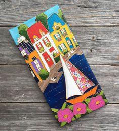 J'ai le plaisir de vous présenter cet article de ma boutique #etsy: Peinture d'art populaire, peinture acrylique,  maison de campagne avec voilier, peinture naïve, 6 X 12, Cadeau art populaire, bateau à voile Art Mini Toile, Classe D'art, Art Fantaisiste, Dragonfly Art, Mini Canvas Art, Paint And Sip, Kids Room Art, Boutique Etsy, Art Classroom