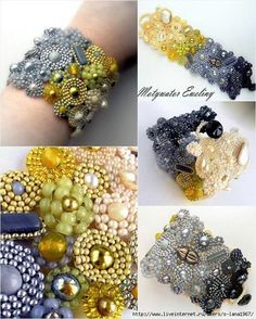 Amateur Casket Arts: Projects month in the gallery Amateur Art Treasure Chest - January 2014 Beaded Jewelry Patterns, Embroidery Jewelry, Bracelet Patterns, Beaded Embroidery, Soutache Bracelet, Jewelry Crafts, Handmade Jewelry, Beaded Necklace, Seed Bead Tutorials