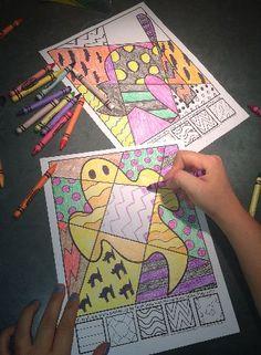 """Interactive coloring sheets for Halloween...more than """"just coloring!"""" #halloweencoloring #halloweencolringsheets #halloweenactivities"""