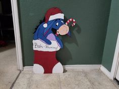 Eeyore in Stocking Christmas Lawn Decorations, Christmas Yard Art, Yard Decorations, Christmas Wood, Disney Christmas, Christmas Cats, Christmas Projects, Christmas Patterns, Christmas Things