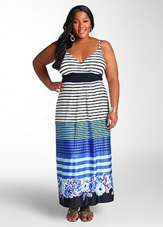 c3445da86 Ashley Stewart: Web Exclusive: Horizontal Stripe Maxi Best Summer Dresses, Ashley  Stewart,