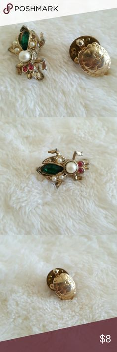 Turtle/bug pins Good condition Jewelry Brooches