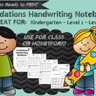 Includes 27 Pages ready to print handwriting notebook using the FUNDATIONS keywords pictures. Inlcudes 2 different covers for either classroom or homework.