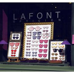 Fabulously framed #Lafont boutique.  #vitrine #glasses #Paris #familyowned #madeinfrance #fabriqueenfrance #sofrench
