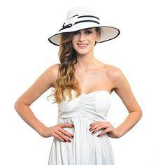 Fanny Elegant Women Wide Brim Sun Hat with Bow W227 (White) Fanny http://www.amazon.com/dp/B00WZJO3UM/ref=cm_sw_r_pi_dp_RJd9wb17TXJ97