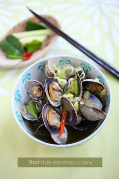 Thai-style Steamed Clams - this dish is everything Thai food is all about: hot, sour, aromatic, and addictive! | rasamalaysia.com
