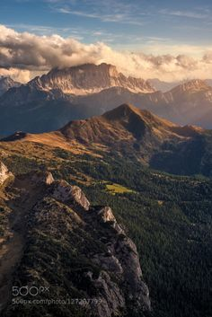 Mt. Civetta by mattiadattaro  alps civetta clouds d750 dolomites dolomiti italia italy lagazuoi landscape landscapes mountain moun