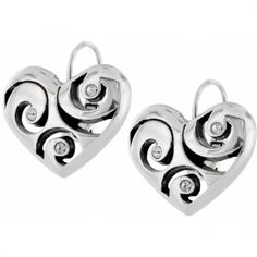 #WinOurHearts Twister Heart Leverback Earrings  available at #Brighton