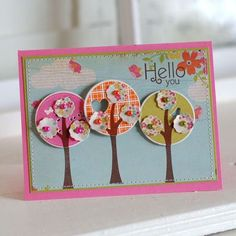 Love the colors and the trees rock!!  By Betsy Veldman for PaperTrey Ink