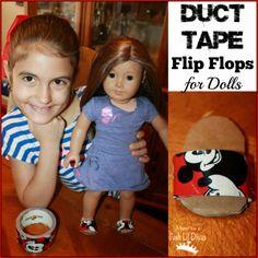 Mom to 2 Posh Lil Divas: American Girl Duct Tape Flip Flop Sandals