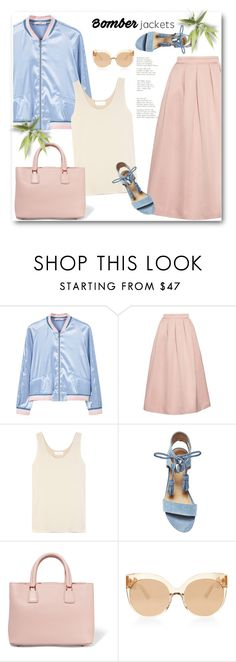 """Light Topping: Summer Bomber Jackets"" by bliznec ❤ liked on Polyvore featuring MANGO, Rochas, Chloé, Steve Madden, Dolce&Gabbana, Linda Farrow, bomberjackets, polyvoreeditorial and polyvorecontest"