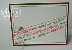 My Pumpkin Challenge: Merry Tree! by Cathy Caines  @Stampin' Up!