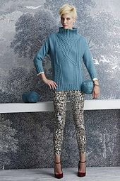 Ravelry: #07 Funnel-Neck Pullover pattern by Norah Gaughan