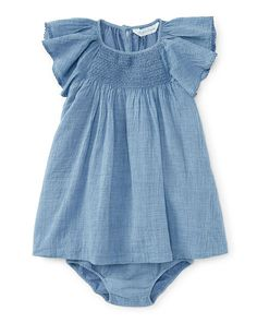 Chambray Dress & Bloomer - Baby Girl Dresses & Skirts - RalphLauren.com