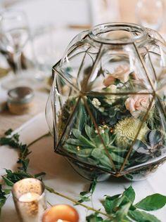 Terrarium Wedding Centerpieces #wedding #centerpieces