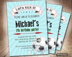 7th Birthday Invitation for boys,6th 9th 8th 11th Boy Birthday Invitation,Printable invitation Kids Football Soccer birthday invitation on Etsy, $14.49 CAD