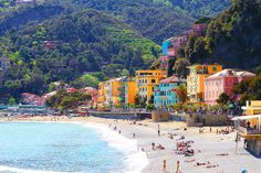The Cinque Terre — pronounced Cheen-Kwah Terra and literally translates to Five Lands — are five small fishing villages along the northern west coast of Italy on the Mediterranean Sea.    Read More http://www.kevinandamanda.com/whatsnew/travel/cinque-terre.html#ixzz1vwLhXnFe