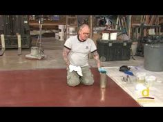 Basement restoration Designer Epoxy Flooring - How to make concrete have a glitter and marble look - Epoxy Floor, Floor Stain, Epoxy Coating, Diy Garden Decor, Home Depot, Designer, Concrete, Youtube, Restoration