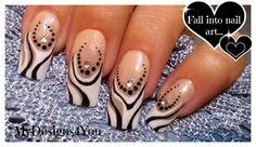 Abstract Nail Art Tutorial | Black and White Nails ♥ Абстрактный Черно-Б...
