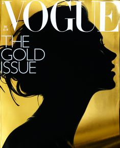 The gold issue of UK Vogue, December 2000. Kate Moss shot by Nick Knight