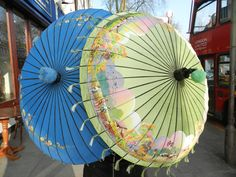 Eclectic pieces like these Edwardian Chinese parasols are wonderful to have either as fashion statements or hanging in your home. Sold last month to a very happy buyer!