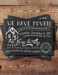 We Have Moved House Warming Invitation by BooBooBeanCreations, $12.00