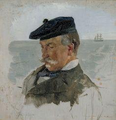 Portrait of Adolf von Becker, the Painter - Albert Edelfelt - The Athenaeum A4 Poster, Poster Prints, Nordic Art, Z Arts, Portraits, Vintage Artwork, Finland, Art Gallery, Fine Art