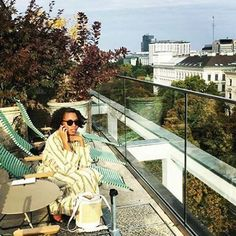 Bohemian afternoon, Vienna roof tops with AdiaTtrischler wearing SAGAN Vienna bucket bag. Roof Tops, Vienna, Bucket Bag, Bohemian, Instagram Posts, How To Wear, Stuff To Buy, Pouch Bag, Boho