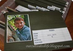 our cultivated life: organizing your children's school papers~ file box system {tip tuesday}