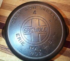 Understanding Griswold cast iron skillets