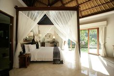 Bedroom with Canopy at Ultra-Luxury Viceroy Bali Resort and Spa in Ubud Highland Town of Bali