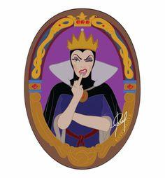 Mirror Mirror (Queen Grimhilde) by esteesdave on DeviantArt Gif Disney, Disney Memes, Disney Art, Disney Pixar, Snow White Queen, Disney Evil Queen, Disney Decendants, Disney Queens, Evil Queens