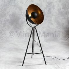 Hannah - Large Tripod Spotlight Floor Lamp with Gold Inner Shade http://www.mirrormania.co.uk/home-decor/lighting/floor-lamps/hannah-tripod-spot-light-floor-lamp.html?utm_content=buffere3566&utm_medium=social&utm_source=pinterest.com&utm_campaign=buffer #Wineoclock #Womaninbiz