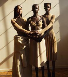 Nicole Atieno, Nyasha Matonhodze e Mari Agory | Flofferz Magazine Dezembro 2016 | Editoriais - Revistas de Moda