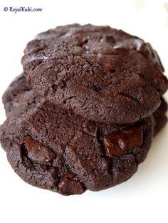 çifte çikolatalı kurabiye tarifi / double chocolate chip cookies