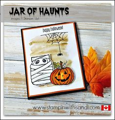 Jar of Haunts from Stampin Up check out all the fun card ideas you can create with this stamp set at www.stampinwithsandi.com