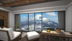 This picturesque 1 bedroom 1 bathroom apartment at Niseko ski resort offers modern furnishing and a full kitchen. Located at central main street, it provides easy access to shops and restaurants. #Japan #Condo
