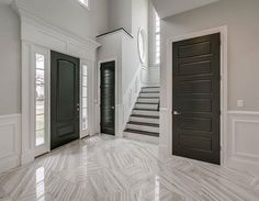 The floors/dark wood/wainscoting! That's Divine! By...{ @rocksolidbuilders_ariella } tag someone who would love this  #stairs#wow#grand#bestoftheday#picoftheday#amazing#gorgeous#beautiful#white#neutral#luxury#mansion#night#welcome#saturday#weekend#shop#design#interiordesign#paint#lights#world#winter#holiday#go#marble#building#architecture#photography
