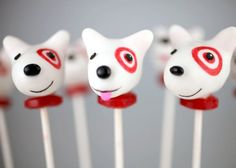 Step-by-step instructions (with photos) for Target's Bullseye cake pops by Bakerella.   For when we get better at the cake pop making.
