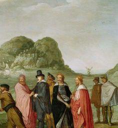 Allegorie op de overwinning van de Hollandse op de Spaanse vloot bij Gibraltar, 25 april 1607, Adam Willaerts, ca. 1615 - ca. 1630 - Rijksmuseum