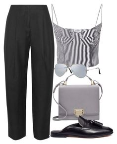 """""""Sin título #2507"""" by camila-echi ❤ liked on Polyvore featuring Acne Studios, Smythson, Sam Edelman and Ray-Ban"""