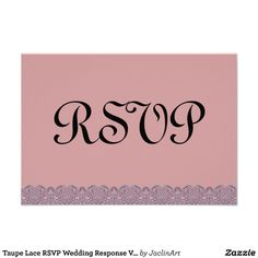 #Taupe #Lace #RSVP #Wedding #Response #Announcements http://www.zazzle.com/taupe_lace_rsvp_wedding_response_v021_invitation-161158580275975307