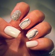 withe nails, with a little glimmer