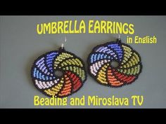 Our favourite Umbrella Earrings. Enjoy the tutorial and experiment with the colo… – Handwerk und Basteln Beaded Bracelets Tutorial, Beaded Earrings Patterns, Beaded Jewelry Designs, Earring Tutorial, Crochet Earrings, Beading Projects, Beading Tutorials, Bracelets, Chokers
