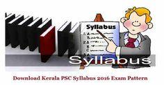 keralapsc.gov.in Kerala PSC Attender Syllabus 2016 Grade II Driver Exam Pattern, Kerala PSC Attender Previous Papers, Kerala PSC Syllabus 2016