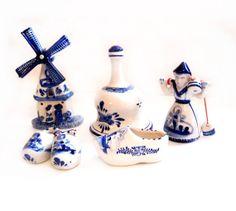 Delft / Dutch Ceramic Porcelain Figurine Lot