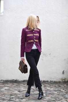 Purple military jacket